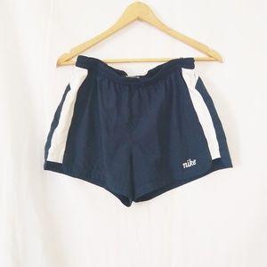 Nike | Navy blue and white shorts
